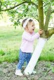 De vroege zomer blije baby Stock Afbeelding