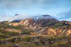 De vroege zomerochtend in IJsland royalty-vrije stock afbeelding