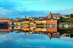 De vroege zomerochtend van Stockholm Royalty-vrije Stock Afbeeldingen