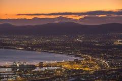 De vroege zonsopgang van de ochtendhaven in Kaapstad Zuid-Afrika Royalty-vrije Stock Fotografie
