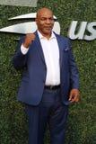 De vroegere in dozen doende kampioen Mike Tyson woont het US Open van 2018 bij openend ceremonie bij USTA Billie Jean King Nation stock afbeelding
