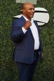 De vroegere in dozen doende kampioen Mike Tyson woont het US Open van 2018 bij openend ceremonie bij USTA Billie Jean King Nation royalty-vrije stock foto