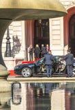 De vroegere Duitse voorzitterschristen wulff verlaat de viering o Royalty-vrije Stock Foto's