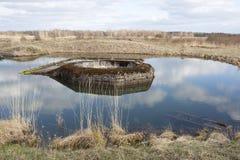 De vroegere grens van de Lijn van Stalin Stock Afbeeldingen