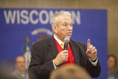 De vroegere Republikeinse Gouverneur Tommy Thompson van Wisconsin Stock Afbeeldingen