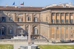 De vroegere woonplaats van het Pittipaleis van de Medici-Familie, Florence Stock Foto