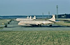 De vroegtijdige waarschuwing van RAF Hawker Siddley Nimrod MR2 XV234, anti-sub vliegtuigen Royalty-vrije Stock Foto's