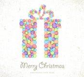 De vrolijke achtergrond van de de giftkaart van de Kerstmiswaterverf Royalty-vrije Stock Foto
