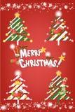 De vrolijke achtergrond van de Kerstmisdecoratie - Creatieve illustratie eps10 Stock Afbeeldingen
