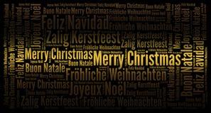 De vrolijke achtergrond van de Kerstmisvakantie royalty-vrije illustratie