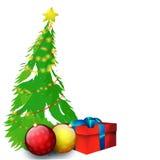 De vrolijke achtergrond van de Kerstmisviering Royalty-vrije Stock Afbeeldingen