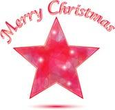 De vrolijke achtergrond van de Ster van Kerstmis Stock Foto's