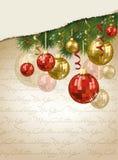 De vrolijke achtergrond van het Kerstmis Gelukkige Nieuwjaar Royalty-vrije Stock Afbeeldingen