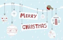 De vrolijke Achtergrond van Kerstmis Stock Afbeelding