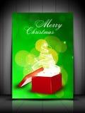 De vrolijke achtergrond van Kerstmis. EPS 10. Royalty-vrije Stock Afbeeldingen