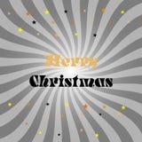 De vrolijke affiche van de Kerstmisgift Het gouden schitteren Het van letters voorzien ontwerp stock illustratie