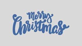 De vrolijke Animatie van het Kerstmishandschrift De grafiek van de kalligrafiemotie stock video