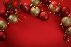 De vrolijke ballen van het Kerstmisconcept, het begroeten Royalty-vrije Stock Foto's