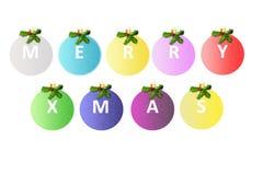 De vrolijke Ballen van Kerstmis Royalty-vrije Stock Fotografie