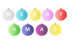 De vrolijke Ballen van Kerstmis Royalty-vrije Stock Afbeeldingen