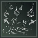 De vrolijke Banner van Kerstmis Stock Fotografie