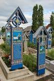 De Vrolijke Begraafplaats in Sapanta, Roemenië Royalty-vrije Stock Fotografie