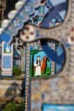 De vrolijke begraafplaats van Sapanta, Maramures, Roemenië Die begraafplaats is uniek in Roemenië en in Stock Foto