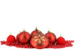 De vrolijke decoratie van de Kerstmisbal Stock Afbeelding