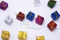 De vrolijke decoratie van Kerstmis Royalty-vrije Stock Foto's