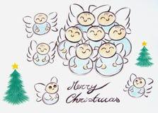 De vrolijke Engelen van Kerstmis Royalty-vrije Stock Fotografie