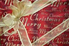 De vrolijke Gift van Kerstmis Stock Foto
