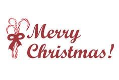 De vrolijke Groet Illus van Kerstmis Royalty-vrije Stock Foto