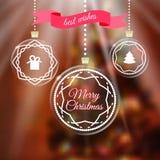 De vrolijke groet van Kerstmis royalty-vrije illustratie