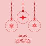 De vrolijke groet van Kerstmis Stock Fotografie