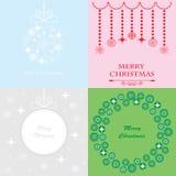 De vrolijke groet van Kerstmis Stock Foto's