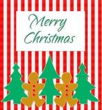 De vrolijke Groet van Kerstmis Stock Afbeeldingen
