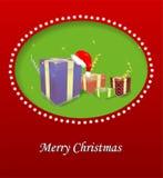De vrolijke illustratie van Kerstmis Stock Afbeeldingen