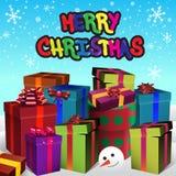 De vrolijke illustratie van Kerstmis royalty-vrije illustratie