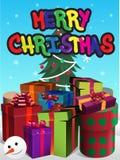 De vrolijke illustratie van Kerstmis vector illustratie