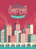 De vrolijke illustratie van Kerstmis stock illustratie