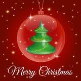 De vrolijke illustratie van Kerstmis Stock Foto's