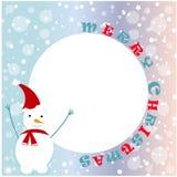 De vrolijke illustratie van Kerstmis en van het Nieuwjaar Stock Foto
