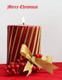 De vrolijke Kaars van Kerstmis Royalty-vrije Stock Fotografie