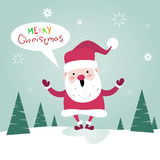 De vrolijke Kaart van de de Affichegroet van Kerstmissanta clause happy new year Stock Afbeelding