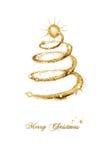 De vrolijke kaart van de Kerstmis seizoengebonden groet Stock Afbeeldingen