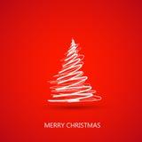 De vrolijke kaart van de Kerstmisboom Stock Foto