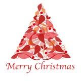 De vrolijke kaart van de Kerstmisgroet Royalty-vrije Stock Foto's
