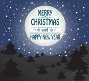 De vrolijke kaart van de Kerstmisgroet Stock Afbeeldingen