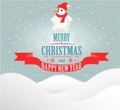 De vrolijke kaart van de Kerstmisgroet Stock Afbeelding