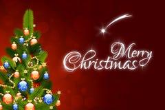 De vrolijke kaart van de Kerstmisgroet Royalty-vrije Stock Afbeelding